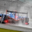 The Alpine A450 Heads to Practice for Le Mans