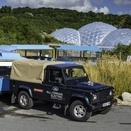Land Rover Testing Electric Defender at Eden Project in UK