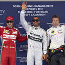 Lewis Hamilton Grabs First Pole as Mercedes Driver