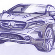 Mercedes Teases Production GLA Crossover Ahead of Frankfurt Debut
