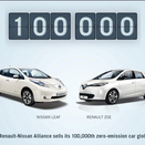 Renault-Nissan Alliance Hits 100,000 Combined Electric Car Sales