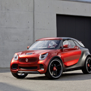 Smart Imagines Forstars SUV and Brabus Electric Drive in Paris