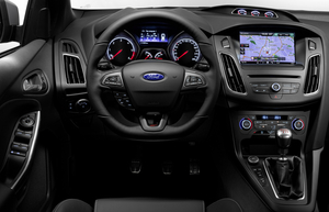 The Focus ST also gets a new sports steering wheel with flat bottom coated in soft-touch leathe