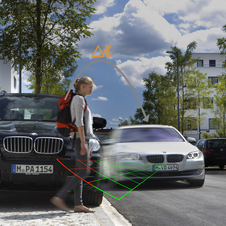 If pedestrians wore the transponders, the car would know where they are