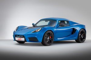The car is based on the Lotus Exige with an mid-mounted electric motor