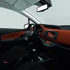 The new Toyota Yaris gets new surfaces that receive a coating using softer touch materials