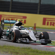 The German driver from Mercedes extended his lead in the championship race to 33 points