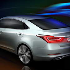 The car will fit between the Sonata and Elantra in the Hyundai lineup
