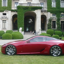The side subtly looks like the LFA