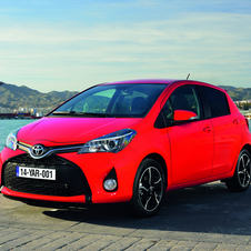 The Yaris Hybrid CO2 emissions have been reduced from 79g/km to 75g/km