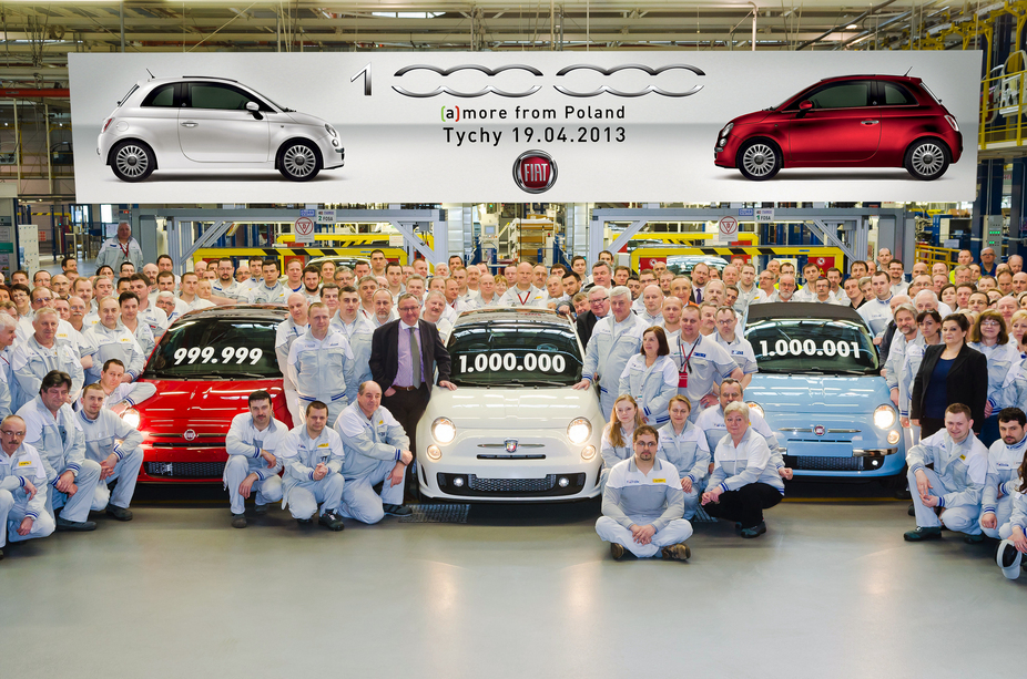 Fiat has produced over one million 500s at its factory in Poland