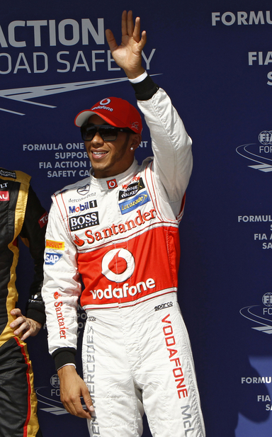 Hamilton is just one point ahead of Kimi Raikkonen in the championship
