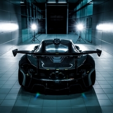 Teaser image and a video confirm the huge rear wing and body with aerodynamic purposes will be included in the P1 GTR