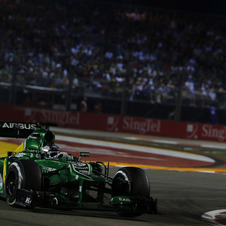Caterham has been using F1 engines since 2011
