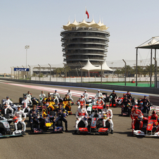 The Teams at the 2010 Bahrain Grand Prix