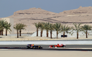 Ferrari and Red Bull at the 2010 Bahrain Grand Prix