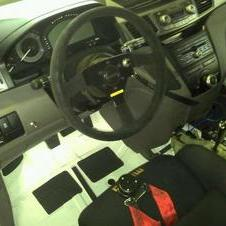 The interior is modified for safety
