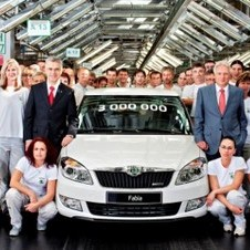 The 3 Millionth Fabia built was a white Fabia Greenline 1.2 TDI CR DPF model with 74hp