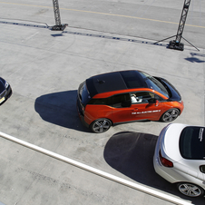 The self driving technology allows the i3 to park itself