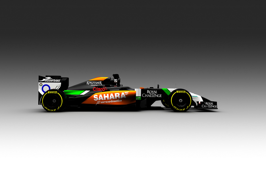 The Force India VJM07 is the first Formula One car revealed for 2014