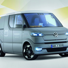 The eT! is an electric delivery van concept. VW will explain more at its press conference.