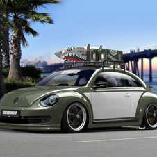 The theme seems to be making modern Beetles look classic