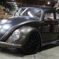 This classic Beetle has four-wheel disc brakes, a leather interior and power upgrades