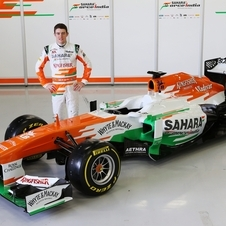Paul di Resta presented the car at Silverstone