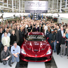 The first car rolled off the line and was immediately delivered