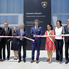The building was opened by government and Lamborghini officials