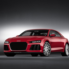 The Sport Quattro Laserlight concept adds a laser high beams and Plasma Red paint