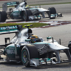 In Malaysia the medium tires would only last about eight laps