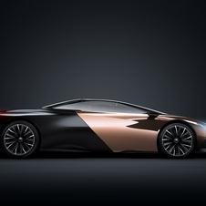 The car mixes a copper and black exterior