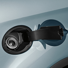 The system uses no cap like a conventional fuel filler. Instead, there are two spring-loaded latches