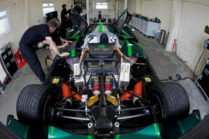 Drayson has installed its own electric motor into the car