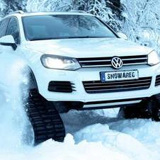 The Snowareg is a one-off vehicle created by Volkswagen Sweden