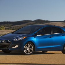 The five-door hatchback Elantra GT gets standard LED taillights and the new engine