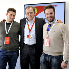 The men got to ask Domenicali whatever they wanted