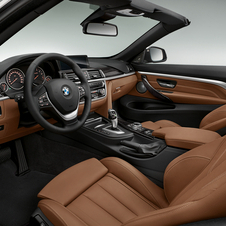 The interior is meant to give the car a nautical feeling with two-tone trim on the doors and sides