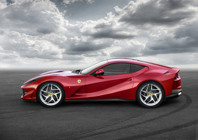 New 812 Superfast 6.5 V12 engine has a 800hp output and 718Nm of torque