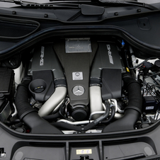The 5.5l, twin-turbo V8 pumps out 557hp