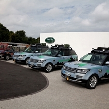 Land Rover sent three Range Rover Hybrids to take on the journey