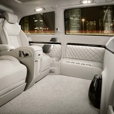 The interior is porcelain white and the seats are heated, cooled and offer massaging functions