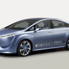 The Toyota FCV-R concept previewed the Toyota fuel cell sedan