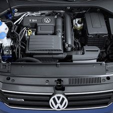 The engine is from VW's new EA211 family to cylinder deactivation and stop/start