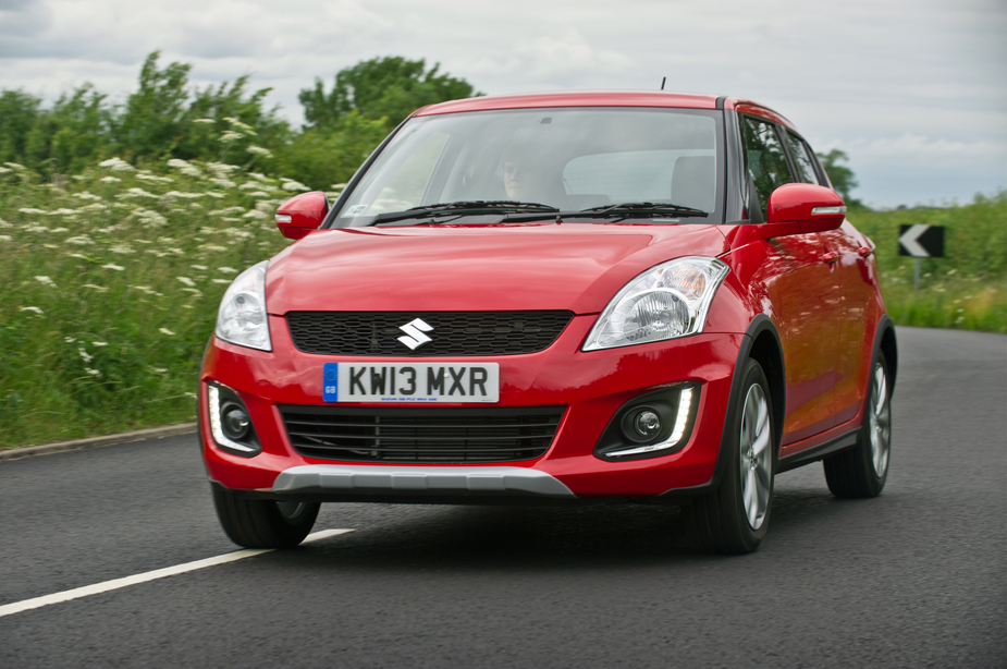 The Swift 4X4 rides 25mm higher than the standard car
