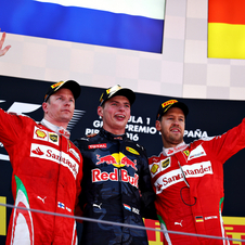 Raikkonen and Vettel completed the podium in Spain