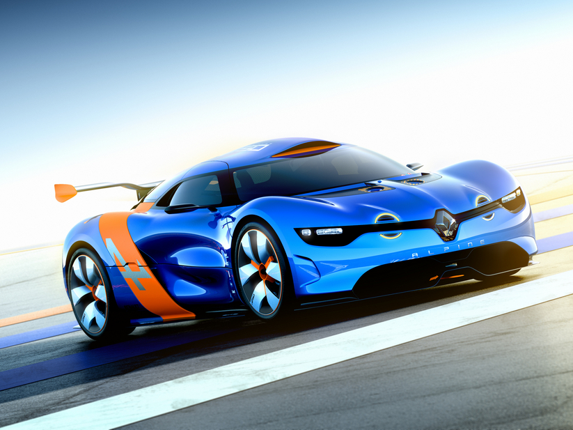 The A110-50 mixes the Dezir Concept with a Renault Megane Trophy