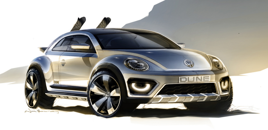 The Beetle Dune Concept has a higher ride height, larger wheels and an electronic differential