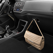 The Seat Mii by Mango includes an inside hook for a women's purse